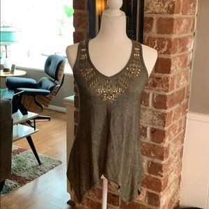 Cache Knit Beaded Tank Top